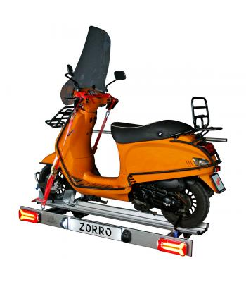 Zorro, foldable scootercarrier with LED lighting