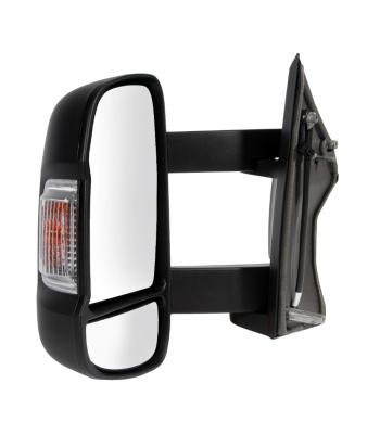Mirror compl. Ducato 2006- electr, links, verwarmd, lange_arm, knipperlicht 16W