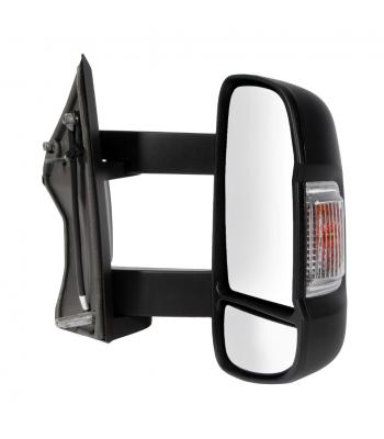 Mirror compl. Ducato 2014- electr, right, heated, long arm, blinker 16W + antenna