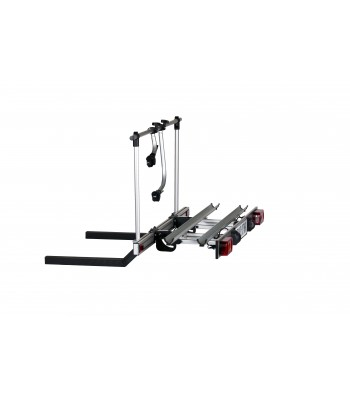 Travel-Star Foldable bike carrier for motorhomes with self-tilting lightbar
