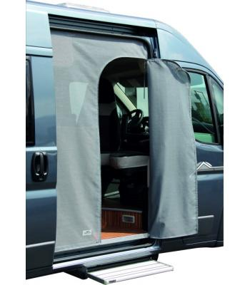 mosquito curtain for Ducato as from 2007, Typ 250, Standard Top: sliding door, universal size with zipper in round arched doorway, only for exit at the left hand side