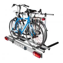 Foldable bike carrier for motorhomes