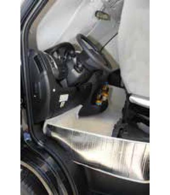 Foot area isolation Ducato > 2014 (Typ 290), with cup holders, tub from, grey